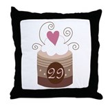 29th Birthday Cupcake Throw Pillow