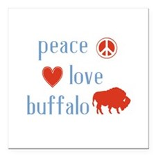 "Buffalo Square Car Magnet 3"" x 3"""