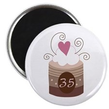 35th Birthday Cupcake Magnet