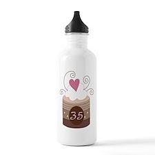 35th Birthday Cupcake Water Bottle
