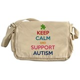 Keep Calm And Support Autism Messenger Bag