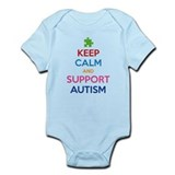Keep Calm And Support Autism Onesie