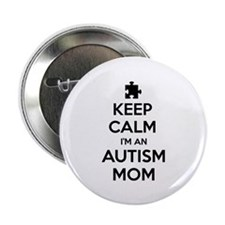 "Keep Calm I'm An Autism Mom 2.25"" Button (100 pack"