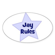 Jay Rules Oval Decal