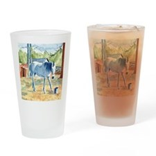 My Blue Horse Drinking Glass