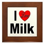 I Love Milk Framed Tile