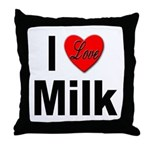 I Love Milk Throw Pillow