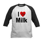 I Love Milk Kids Baseball Jersey