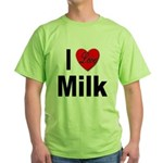I Love Milk Green T-Shirt