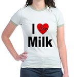 I Love Milk (Front) Jr. Ringer T-Shirt