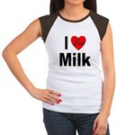 I Love Milk (Front) Women's Cap Sleeve T-Shirt