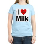 I Love Milk (Front) Women's Pink T-Shirt