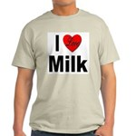I Love Milk (Front) Ash Grey T-Shirt