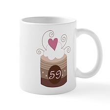 59th Birthday Cupcake Mug