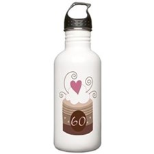 60th Birthday Cupcake Water Bottle