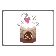 60th Birthday Cupcake Banner