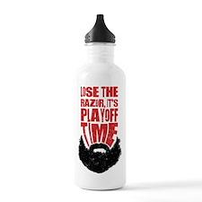 Playoff Beard, Hockey, Baseball Water Bottle