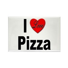I Love Pizza Rectangle Magnet