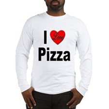 I Love Pizza (Front) Long Sleeve T-Shirt