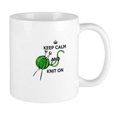 Keep Calm and Knit On Mug
