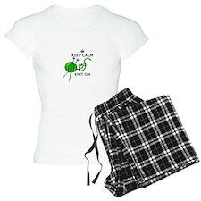 Keep Calm and Knit On Pajamas