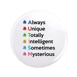 "AUTISM 3.5"" Button (100 pack)"