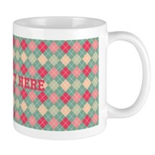 Argyle Print Mugs