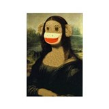 Mona Lisa Monkey Rectangle Magnet (10 pack)