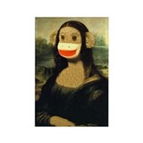 Mona Lisa Monkey Rectangle Magnet