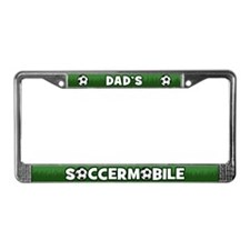 Dad's Soccermobile License Plate Frame