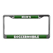 Mom's Soccermobile License Plate Frame