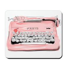 Paris Typewriter Mousepad