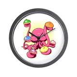 Cupcake Octopus Wall Clock