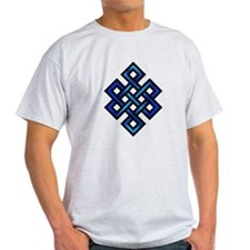 Endless Knot - Blue in Black T-Shirt