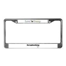 Love to Stamp License Plate Frame