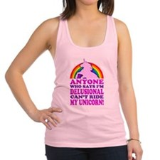Funny! Delusional Unicorn (Distressed) Racerback T