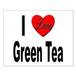 I Love Green Tea Small Poster