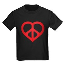 Red Peace Heart T