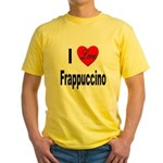 I Love Frappaccino Yellow T-Shirt