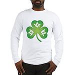 Masonic Irish Clover Long Sleeve T-Shirt