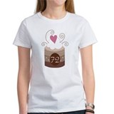 72nd Birthday Cupcake Tee