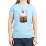 81st Birthday Cupcake T-Shirt