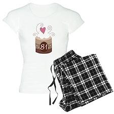 81st Birthday Cupcake pajamas