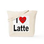 I Love Latte Tote Bag