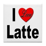 I Love Latte Tile Coaster