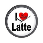 I Love Latte Wall Clock