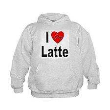 I Love Latte (Front) Hoodie