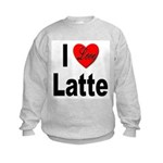 I Love Latte Kids Sweatshirt