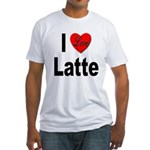 I Love Latte (Front) Fitted T-Shirt