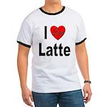 I Love Latte Ringer T